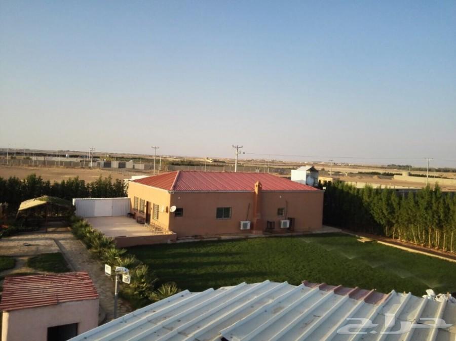 مزرعة و ارض للبيع بالجلة قرب مشروع القدية