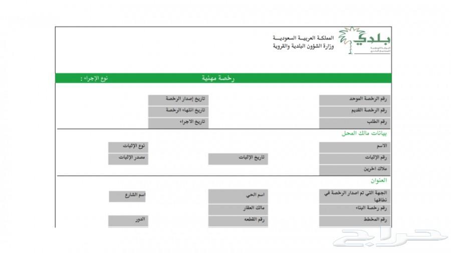 اصدار رخص البلدية - تجديد - شطب 0568416004