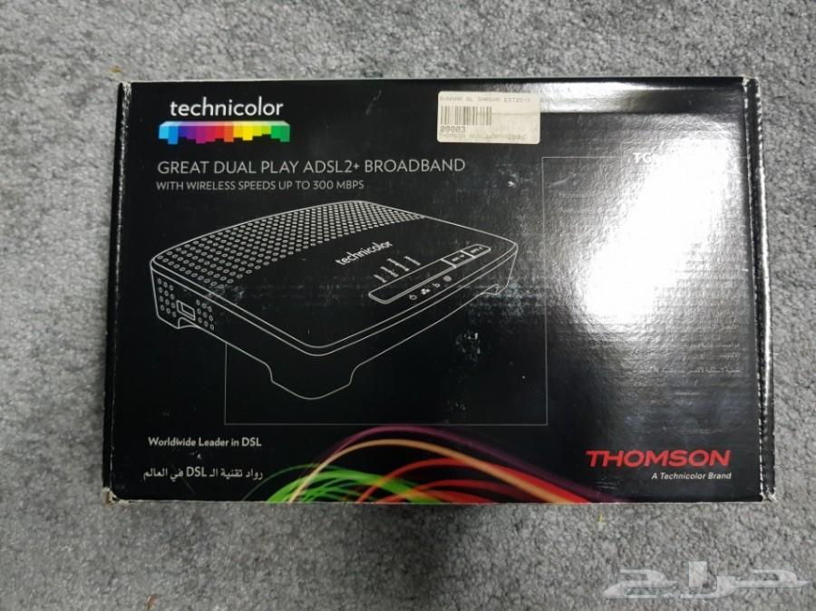 راوترات ADSL شبه جديدة بالكرتون