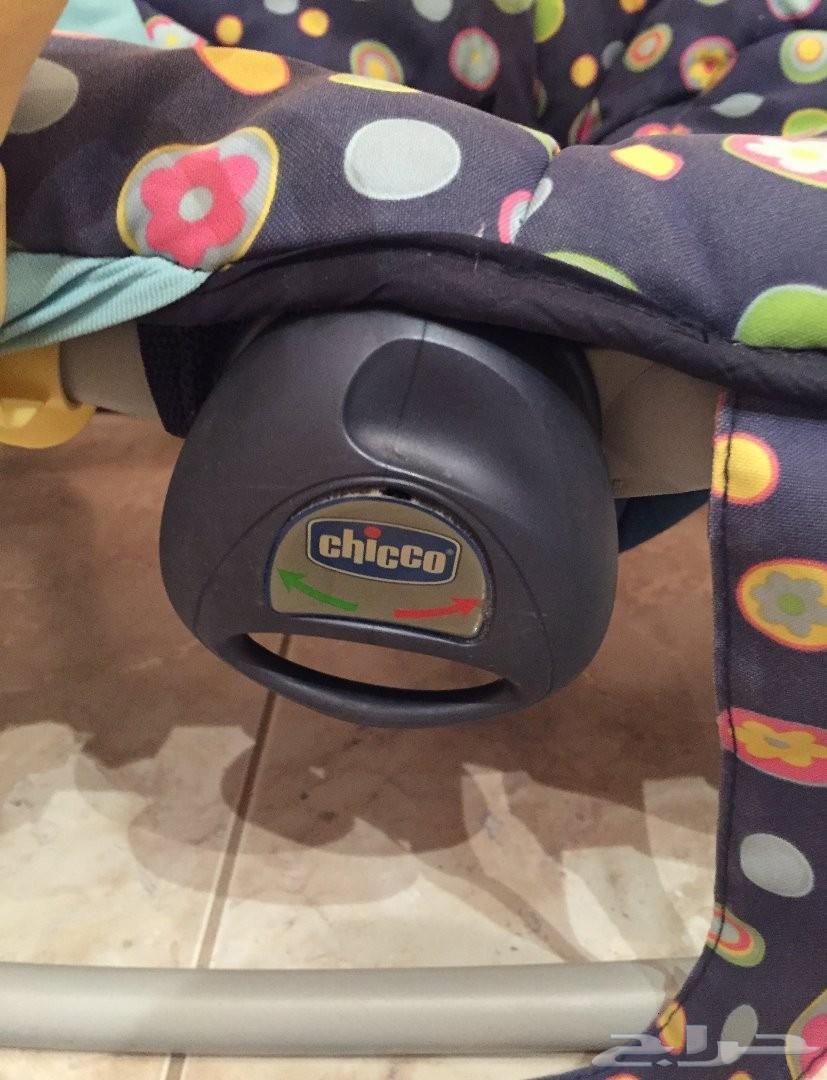 عربة أطفال و كرسي هزاز ماركة شيكو الإيطالية