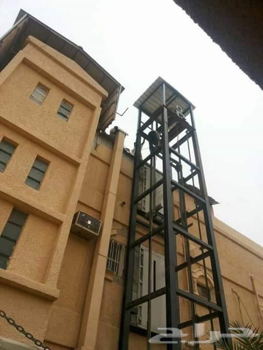 تركيب وصيانة المصاعد بناء برج مصعد خارجي بجده