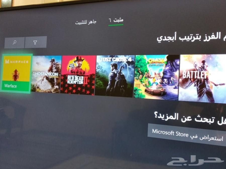 Xbox one s للبيع. شبة جديد مع العاب