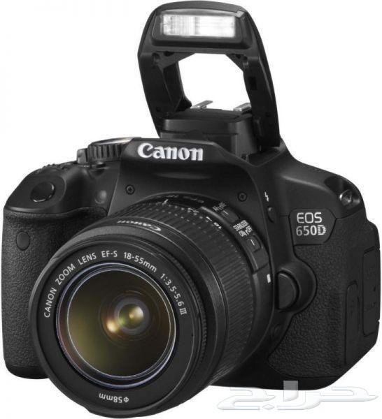 للبيع كاميرا 650D مع ملحقاتها