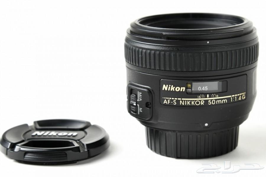 عدسة نيكون 50mm f1.4G