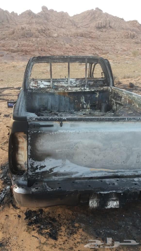 هايلوكس 2013 محترقه