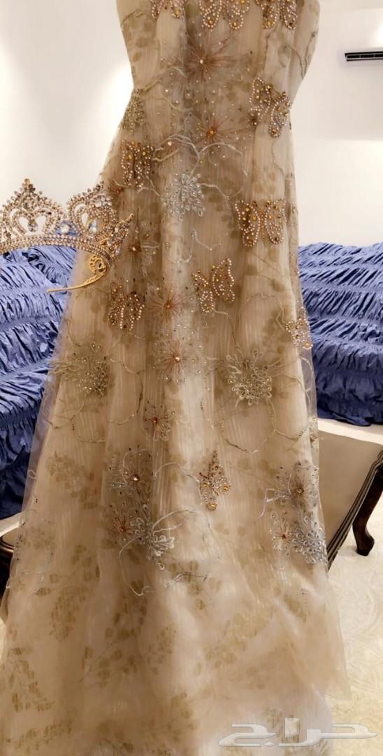 فستان سهرة للبيع اخو الجديد مع تاج