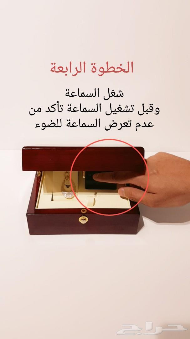 هدية صندوق خشبي فاخر VIP مع السماعة الذكية