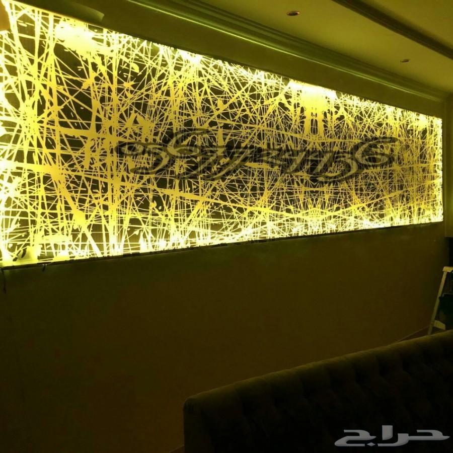 ورق جدران ثري عاكس الاناره