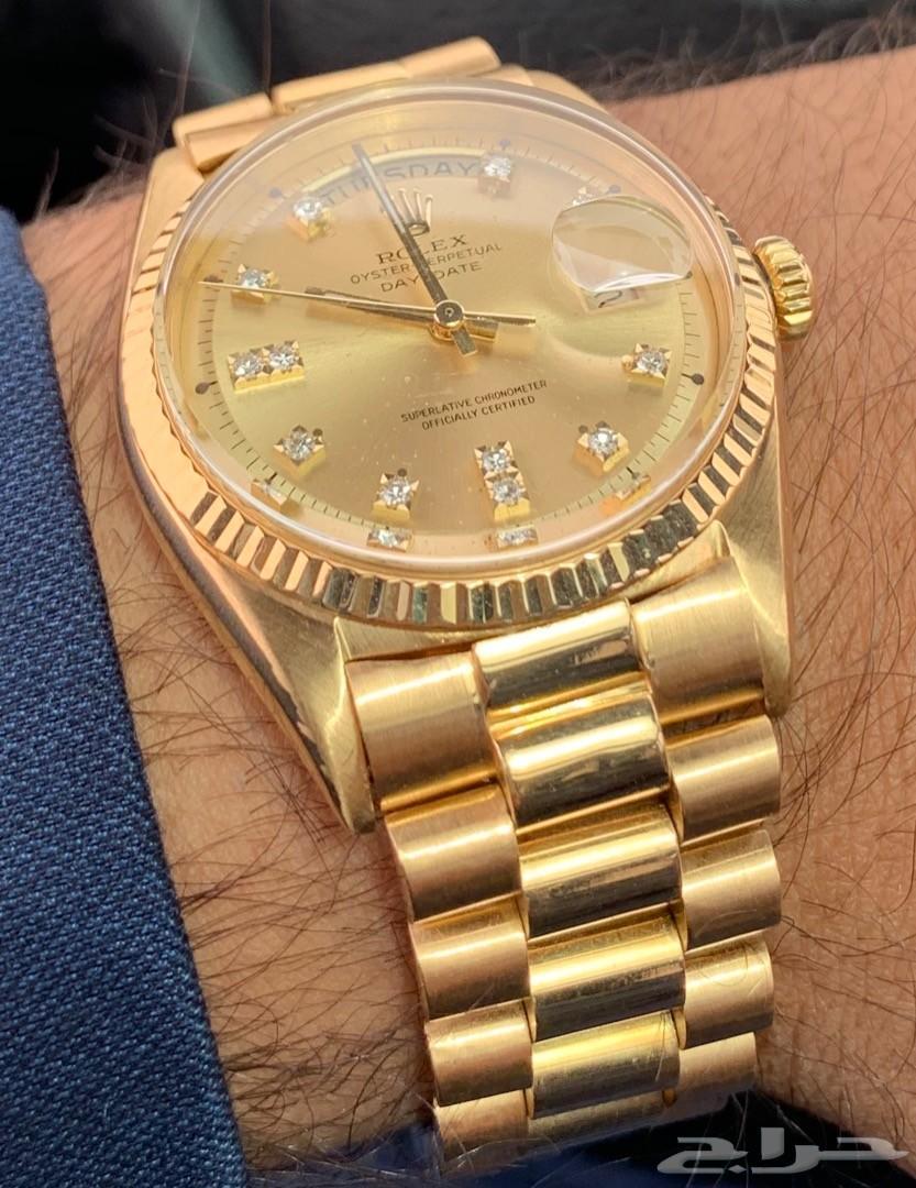 82bcc96d8 رولكس 1803 ذهب كامل نادر اصلي Rolex President