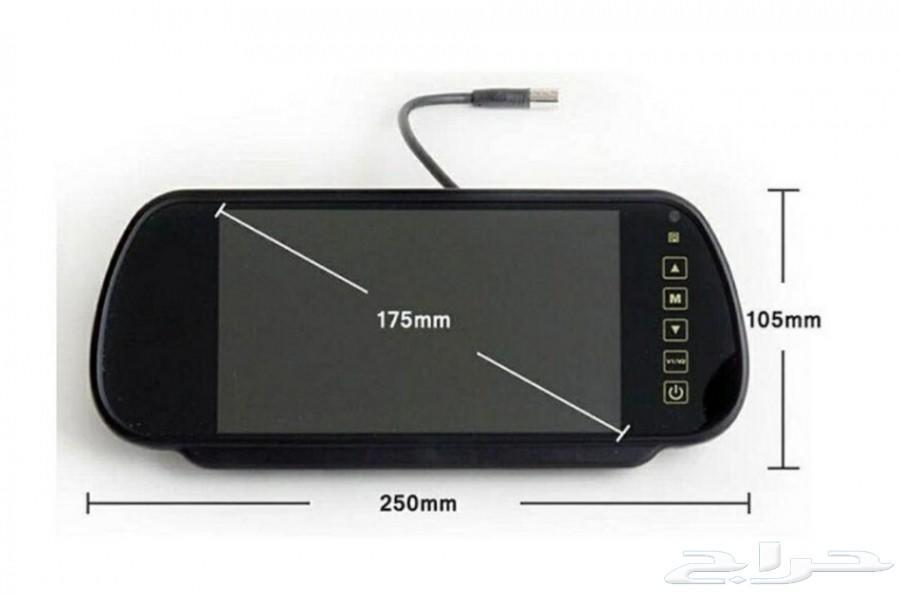 عرض شاشة مشغل الوسائط مع كاميرا خلفيه للسيارة