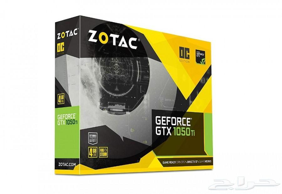 كرت شاشة ZOTAC GTX 1050 Ti -جديد بالكرتون-