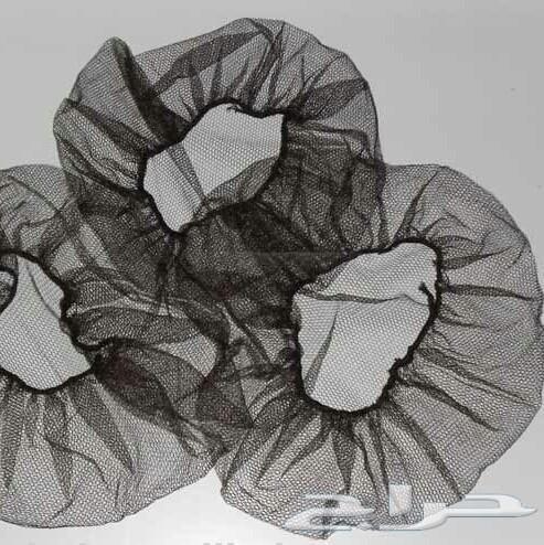 كمامات قفازات غطاء راس سوداء