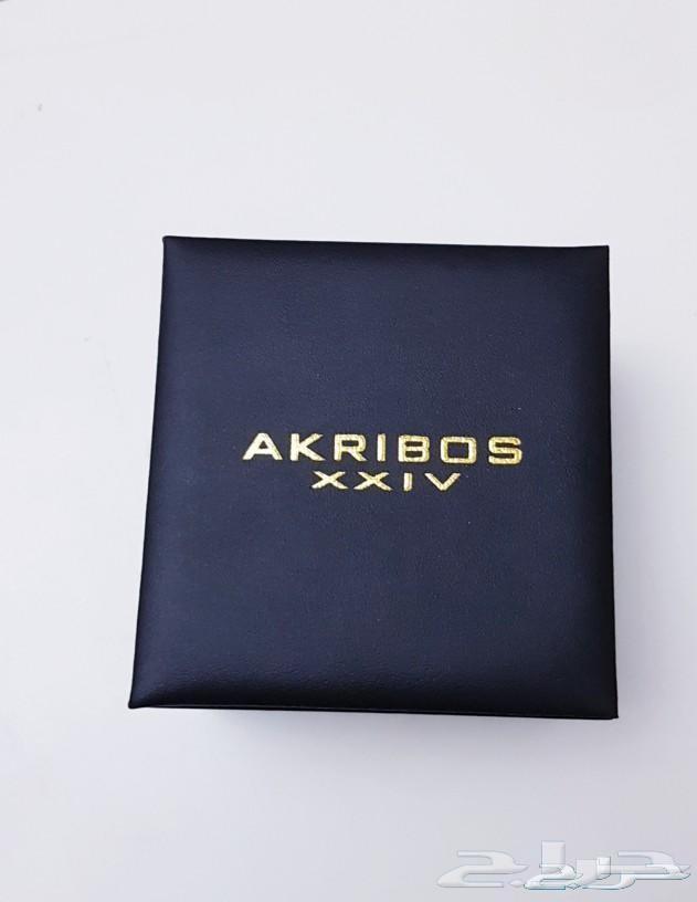 ساعة رجالية فاخرة ماركة اكريبوس جديدة