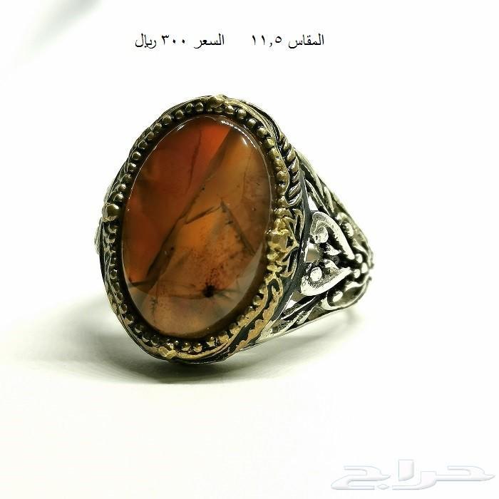 خواتم عقيق مشجر احمر