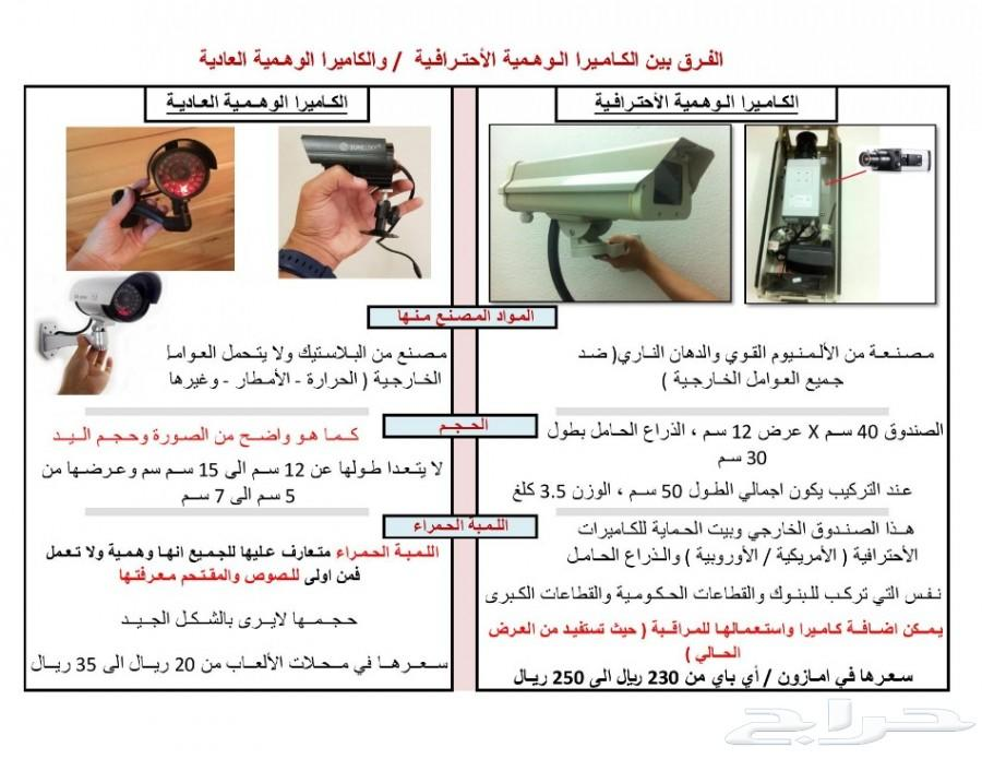 كاميرات مراقبة احترافية وهمية - (اختر العرض)