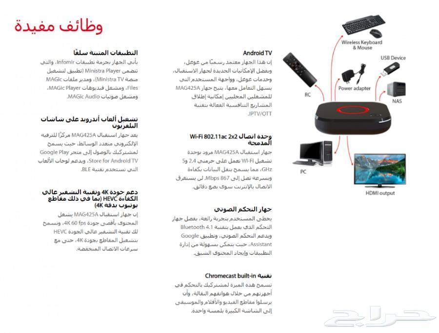 حراج الأجهزة | جهاز Android TV OS 8 0 - MAG425A
