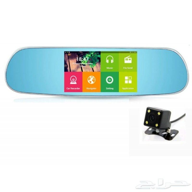 مرآة سيارة مزودة بشاشة ملاحة اندرويد