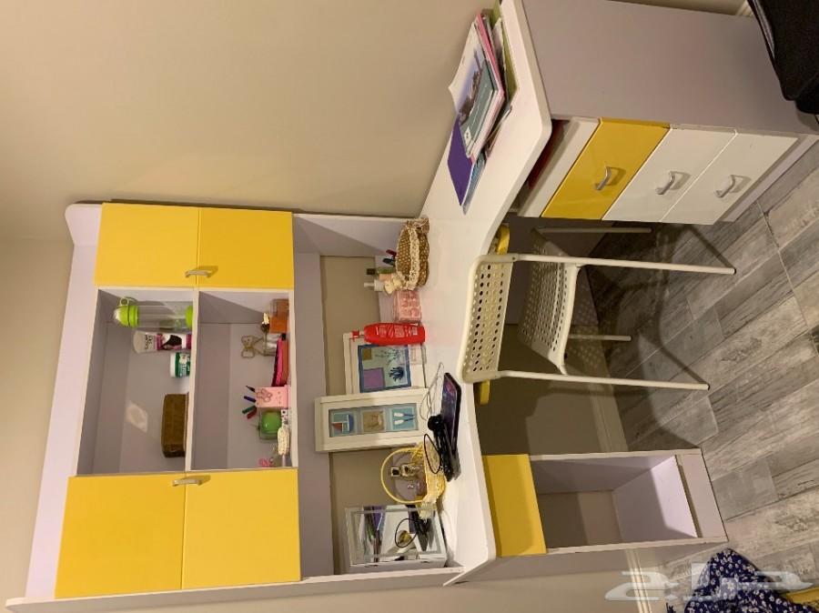 اثاث غرفة اطفال كامل اسخدام نظيف بسعر مغري