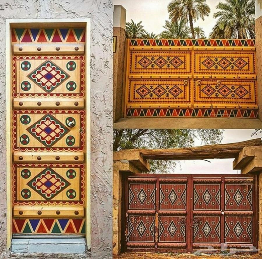 زخرفة ابواب تراثية اسلامية نجدية الرياض