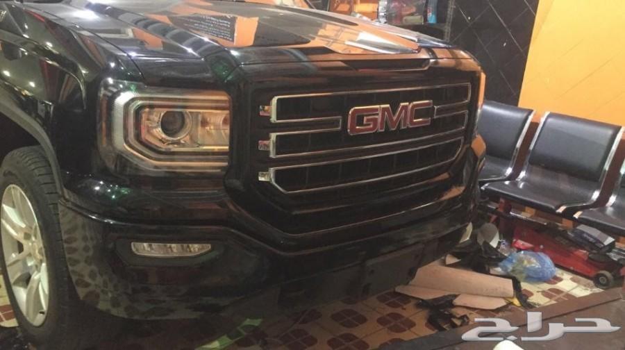 تجليد شبك وصدامات ال GMC سييرا