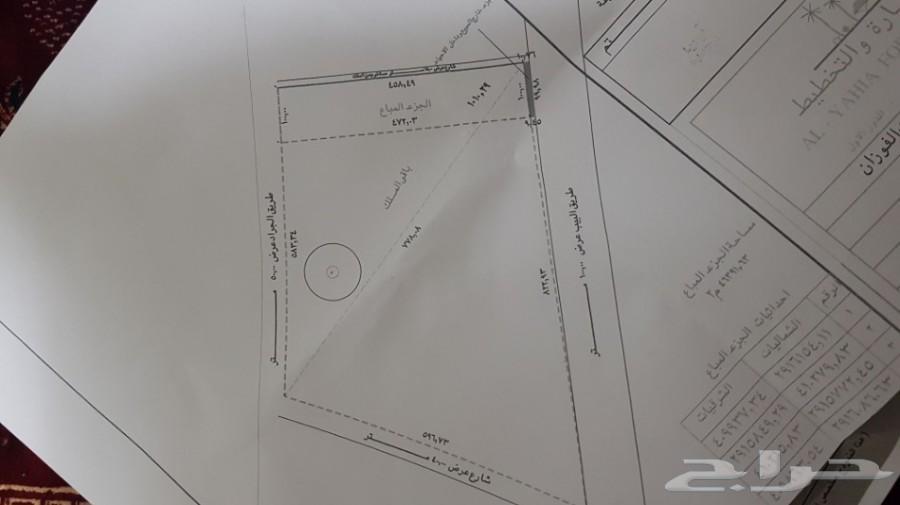 للبيع ارض في الجراد بريدة ب 60 ريال للمتر صك