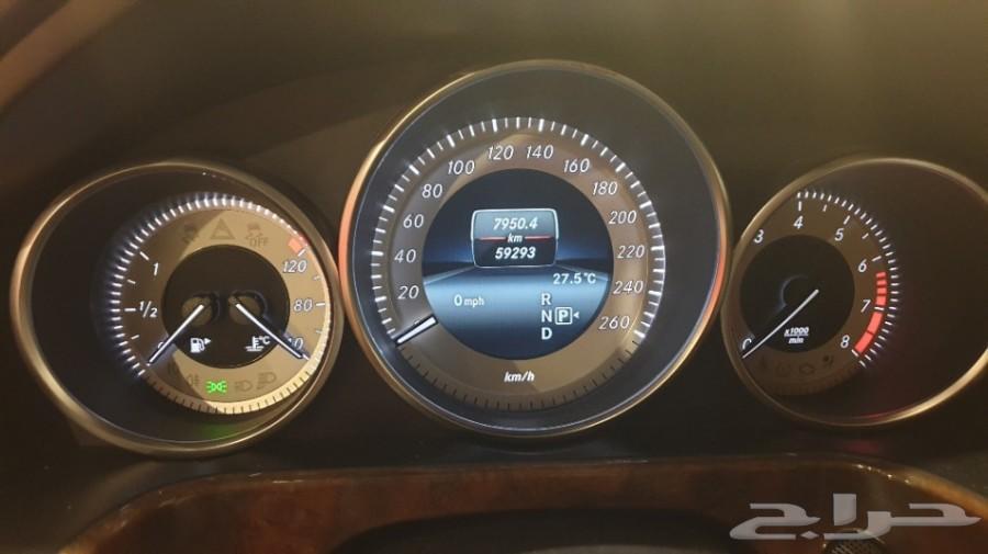 مرسيدس E300 موديل 2014 عداد 59 الف كم