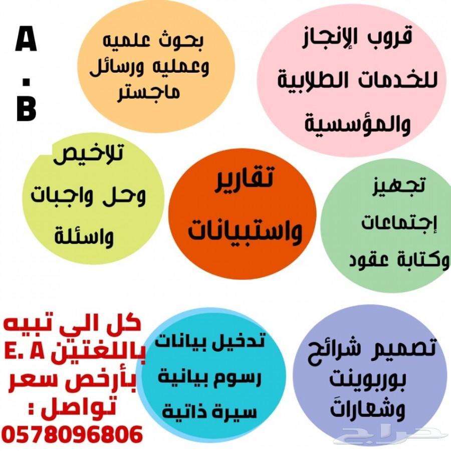 فريق محترف و متكامل لجميع الأعمال الطلابية