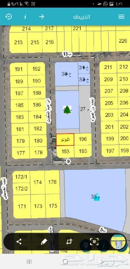للبيع ارض بمحطط درة الخليج 375 متر ب 280الف