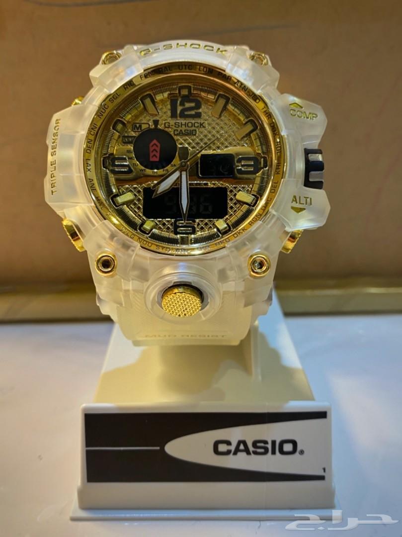 ساعة كاسيو (جيشوق) رجالي ذهبي