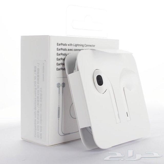 السماعة السلكية ستيريو أبل فون 8 7 X XS ماكس