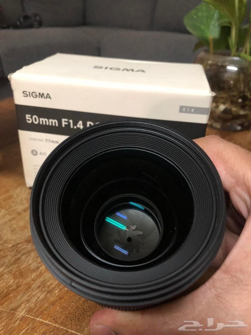 عدسة كانون Sigma 50mm F1.4 Art