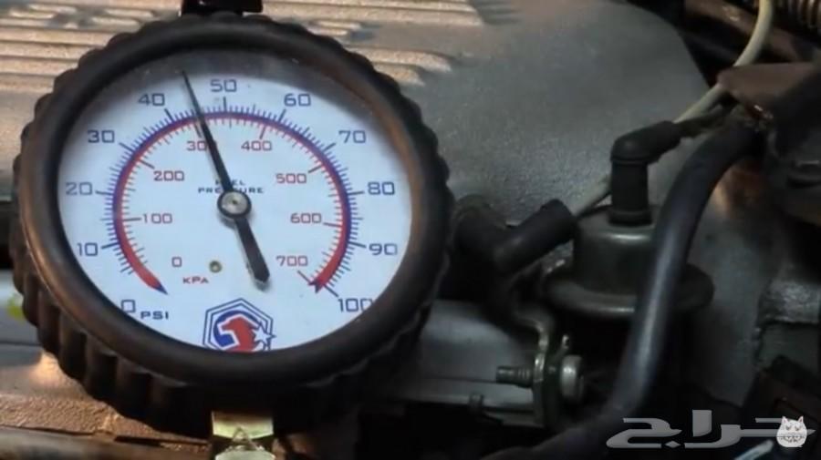 فحص طرمبة البنزين بساعة البار