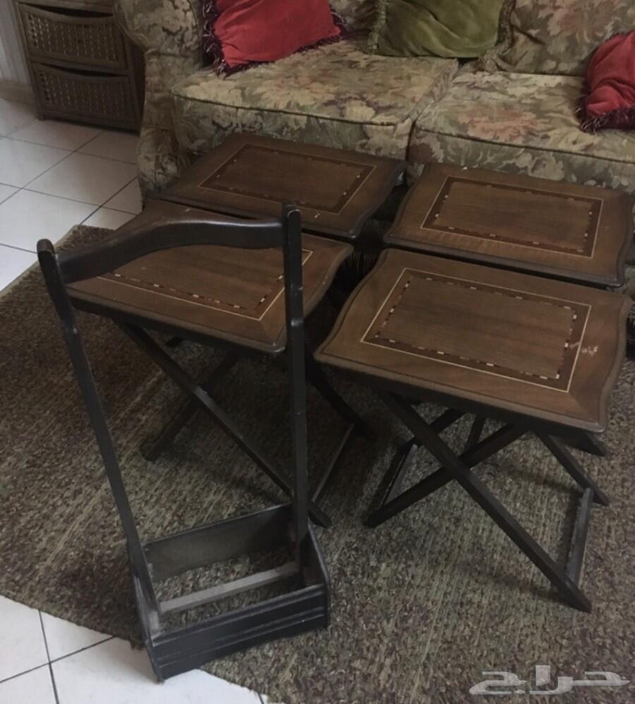 طاولات خدمة مع الحافظة - صناعة تركية