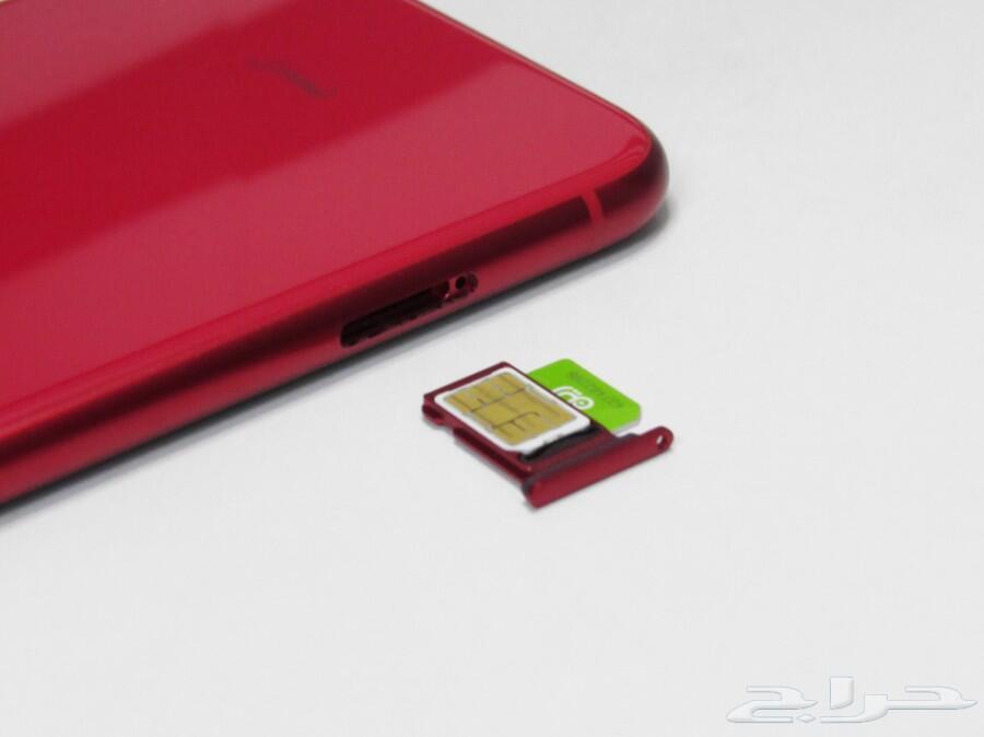 ايفون 11 احمر 128 جيجا يدعم شريحتين و جلبريك