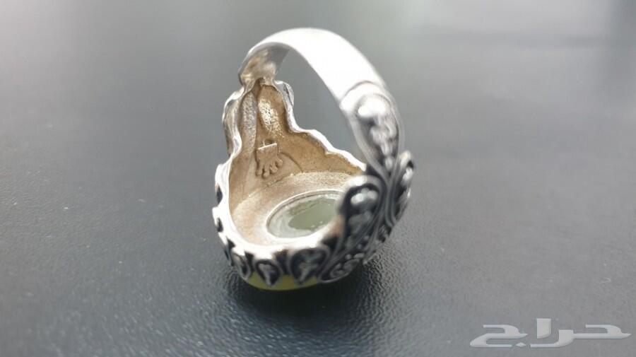 خاتم عقيق طبيعي