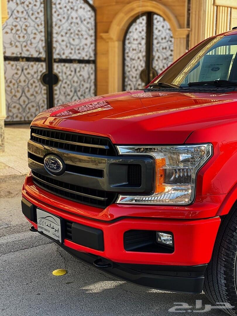 فورد f150 سبورت XLT اللون أحمر العداد 36 ألف